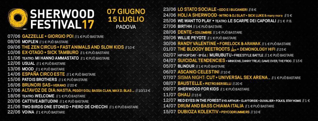 Sherwood (Padova) |giugno-luglio