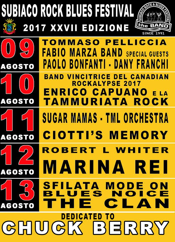Subiaco Rock & Blues Festival | agosto