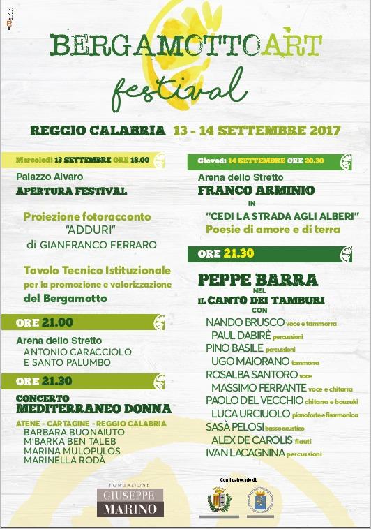 locandina BERGAMOTTO ART FESTIVAL